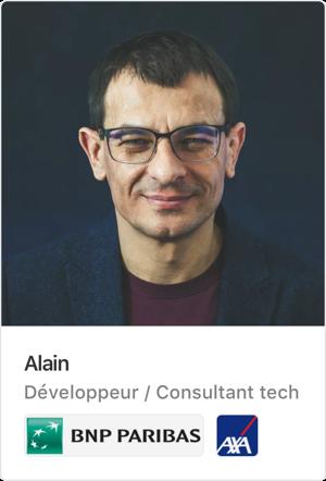 Alain, freelance chez A line